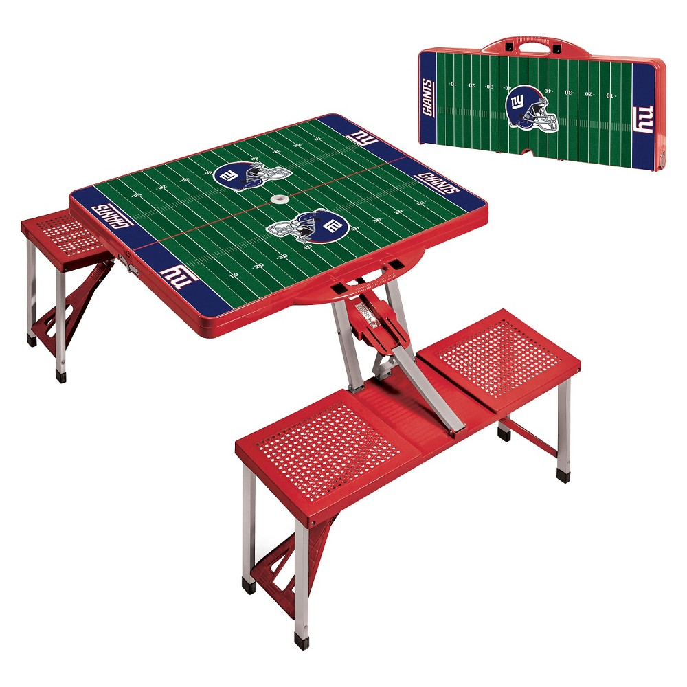 Picnic Time Picnic Table Sport - NFL New York Giants - Red