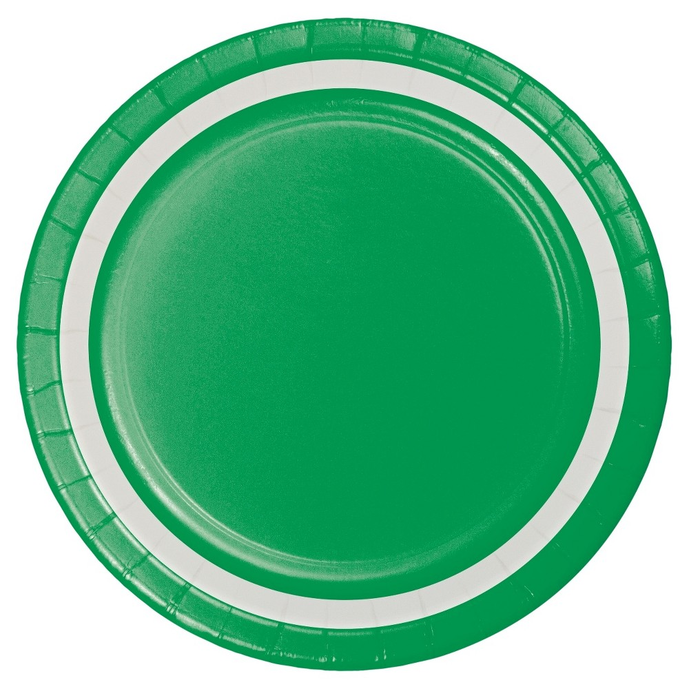 Image of 7 Emerald Paper Plates - 10ct - Spritz, Green