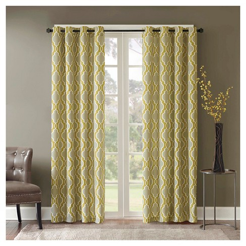 Rae 100% Cotton Printed Fret Curtain Panel - image 1 of 2