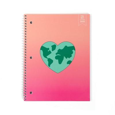 Spiral Notebook 1 Subject College Ruled Daisy Heart - Yoobi™