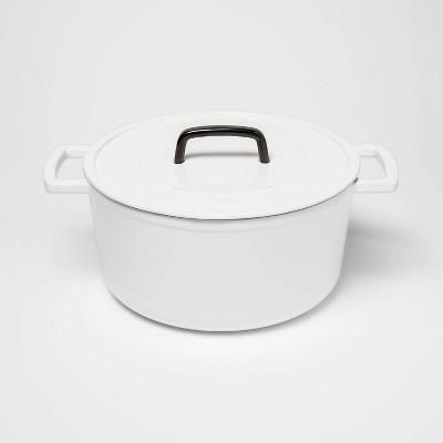 7qt Cast Iron Round Dutch Oven White - Threshold™