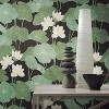 RoomMates Lily Pads Peel & Stick Wallpaper Black/Green - image 4 of 4