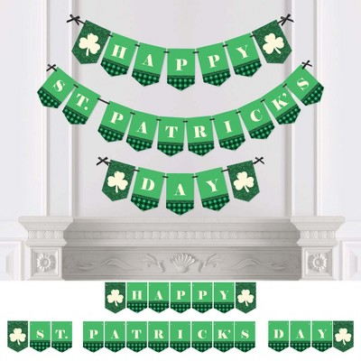 Big Dot of Happiness St. Patrick's Day - Saint Patty's Day Party Bunting Banner - Green Party Decorations - Happy St. Patrick's Day