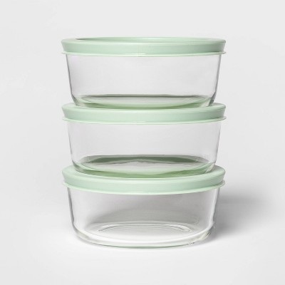 2 Cup 3pk Round Food Storage Container Set Mint - Room Essentials™