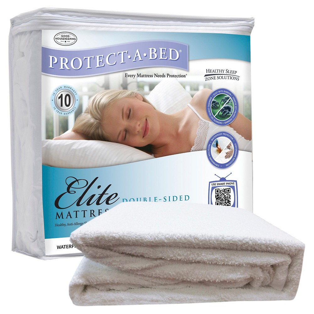 Protect-A-Bed Elite Fitted Sheet style double-sided Protector - White (Xlt)