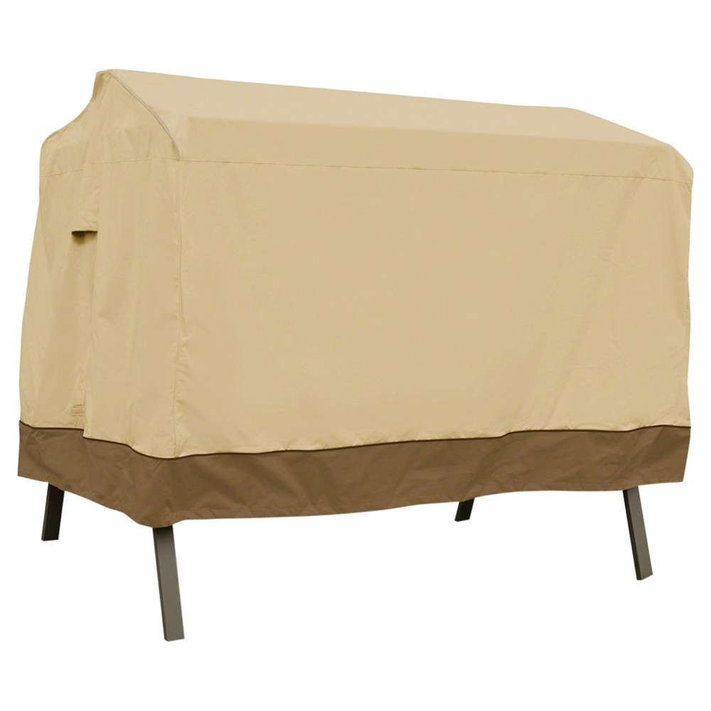 "Image of ""Veranda Patio Canopy Swing Cover - 78"""" x 60"""" x 72"""" - Light Pebble - Classic Accessories"""