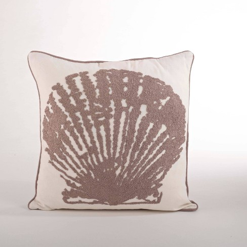 Down Filled Shell Design Pillow Natural - Saro Lifestyle - image 1 of 3