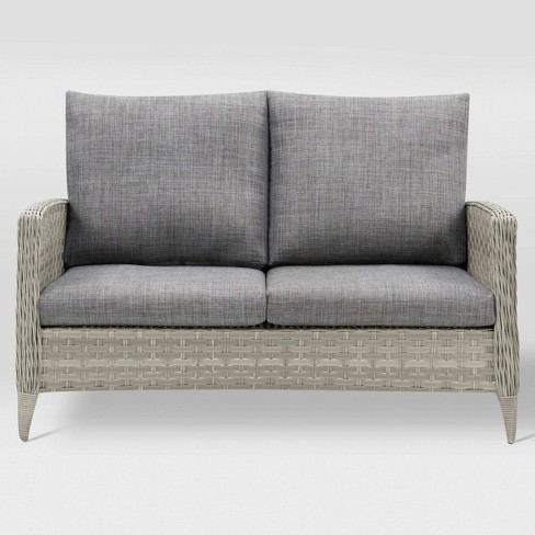 Parkview Patio Loveseat - Light Gray - CorLiving - image 1 of 6