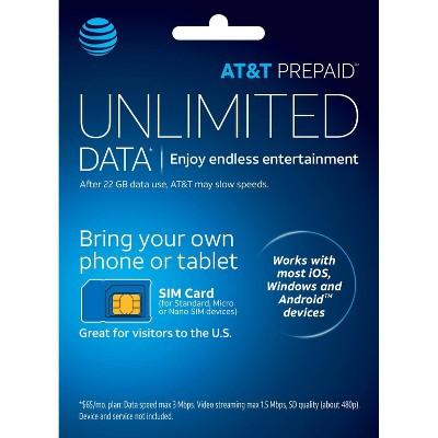 AT&T Prepaid SIM Card Kit (Nano) - Blue