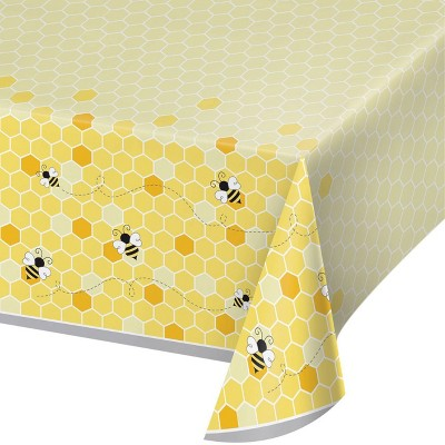 Bumblebee 3ct Baby Shower Plastic Tablecloths