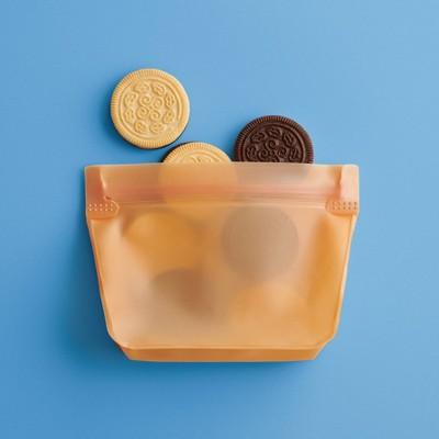 2pk PEVA Reusable Snack Bag Sun Orange - Room Essentials™