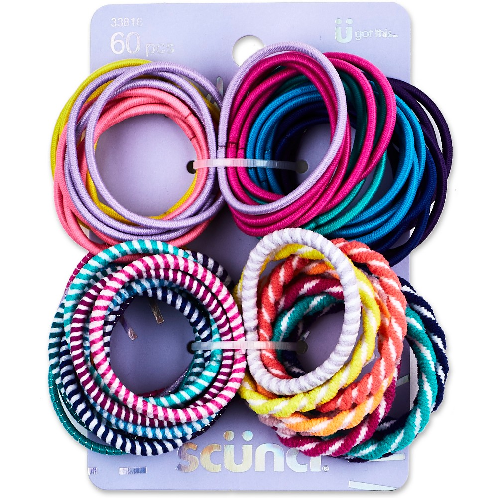 Scunci Mixed Elastics - 60pk, Multi-Colored