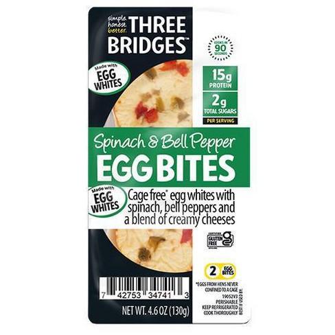 Three Bridges Gluten Free Spinach & Bell Pepper Egg White Bites - 4.6oz - image 1 of 2