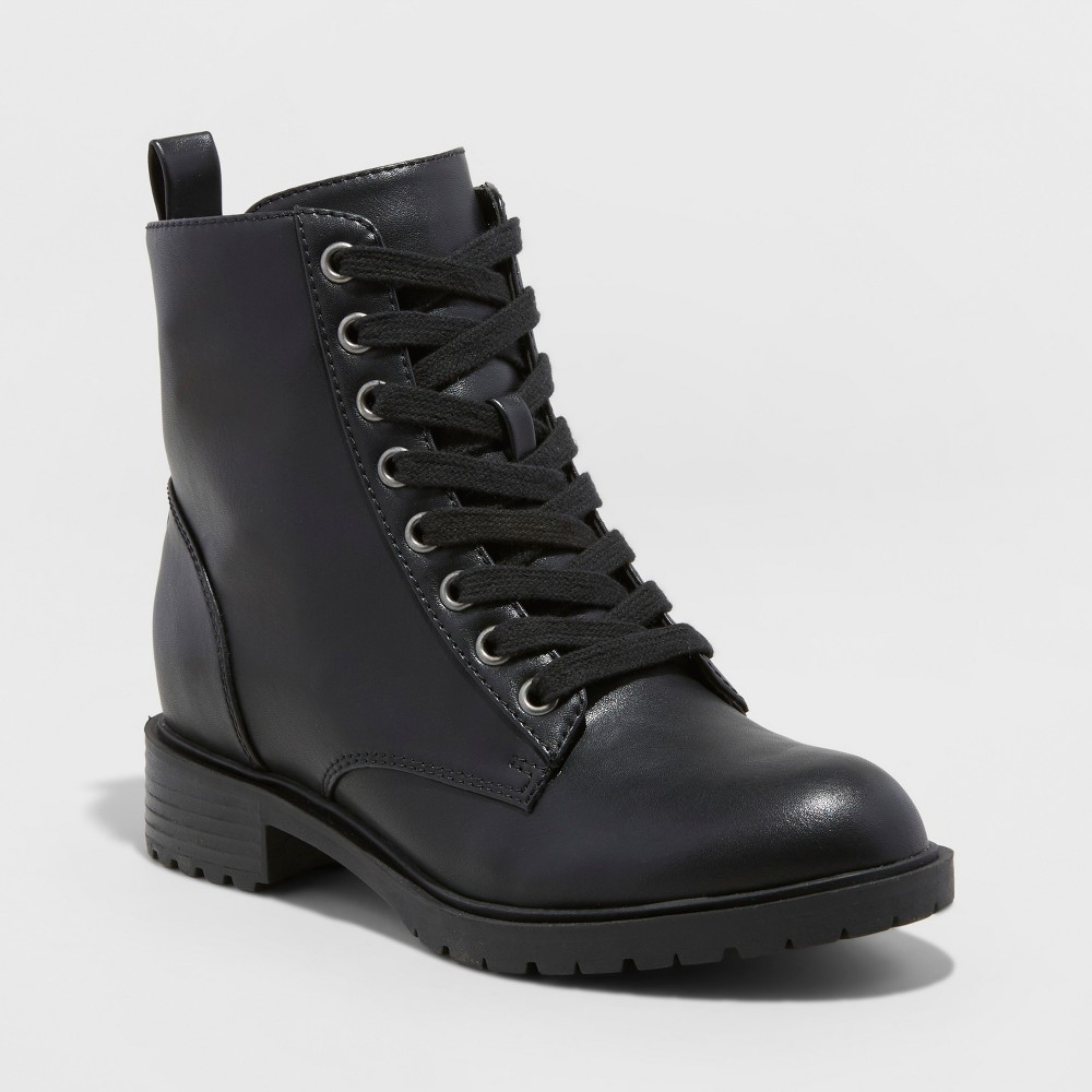 Women's Remi Combat Boots - Universal Thread Black 6