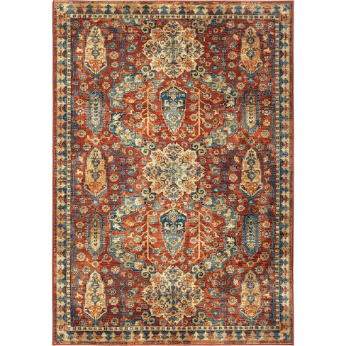 """Red Medallion Woven Area Rug 5'3""""X7'6"""" - Orian - image 1 of 8"""