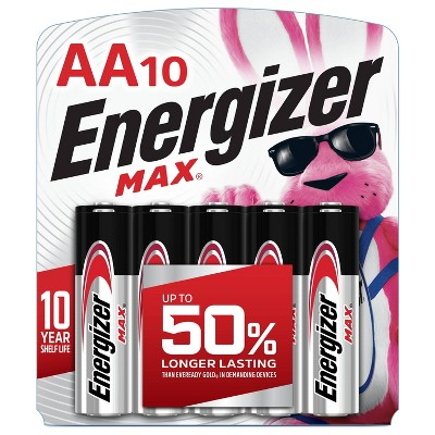 Energizer 10pk MAX Alkaline AA Batteries