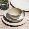 "10.5"" Melamine and Bamboo Dinner Plate White - Threshold™ - image 3 of 4"