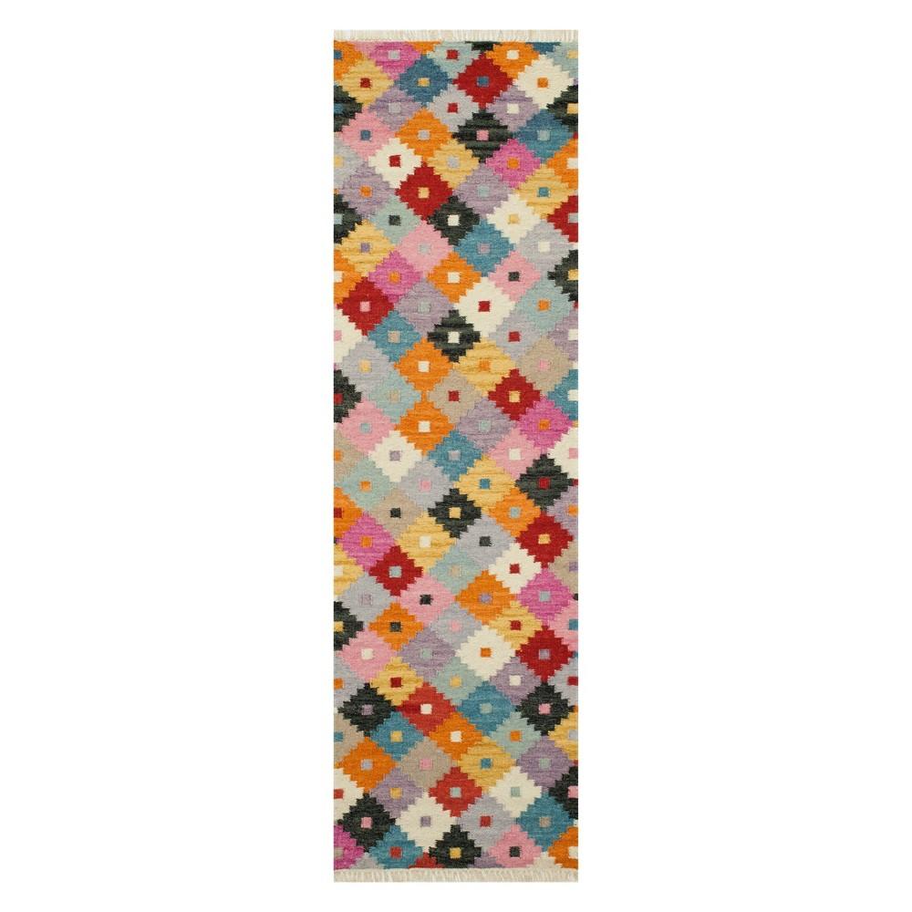 2'3X8' Geometric Woven Runner - Momeni, Multicolored