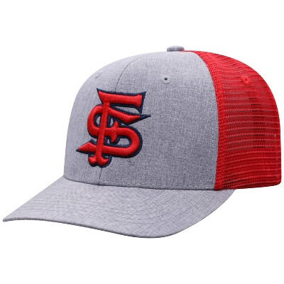 NCAA Fresno State Bulldogs Men's Gray Chambray with Hard Mesh Snapback Hat