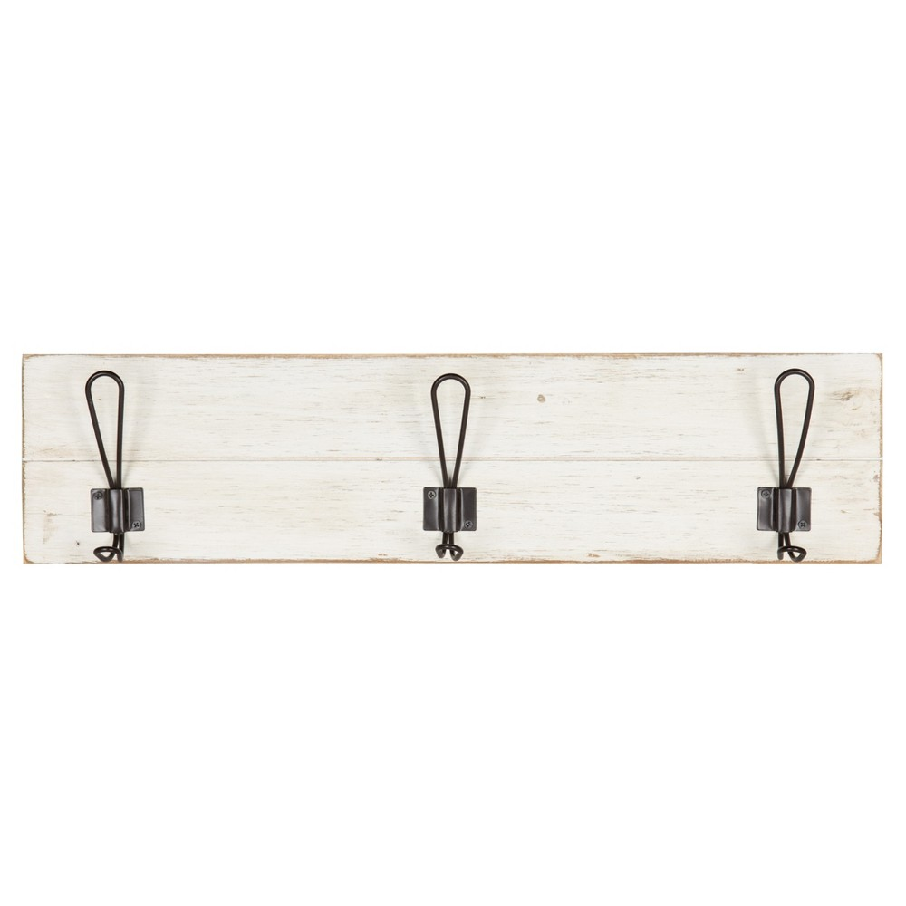 Image of Wall Décor with 3 Hooks - White