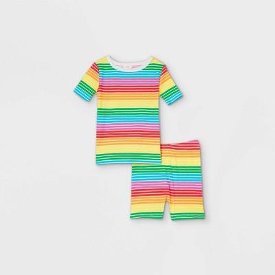 Toddler Pride Striped Matching Family Pajama Set - Rainbow