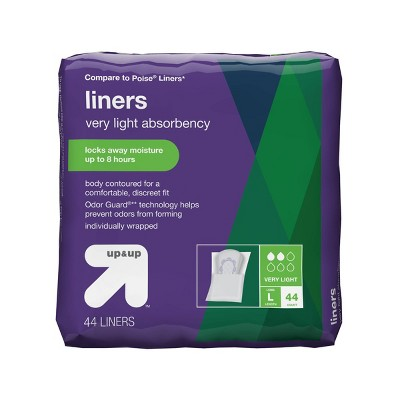 Panty Liners - Very Light Absorbency - Long - 44ct - up & up™
