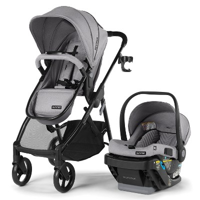 Summer Infant Myria Modular Travel System with Affirm 335 Rear-Facing Infant Car Seat and Base - Stone Gray