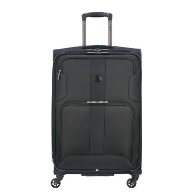 """DELSEY Paris Sky Max 25"""" Expandable Spinner Upright Suitcase - Black"""