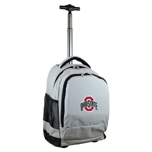 NCAA Ohio State Buckeyes Gray Premium Wheeled Backpack - image 1 of 4