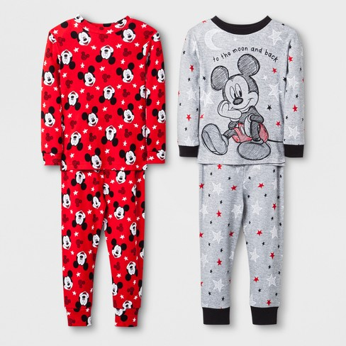 b33e6e6209 Toddler Boys  Mickey Mouse 4pc Pajama Set - Grey 2T   Target