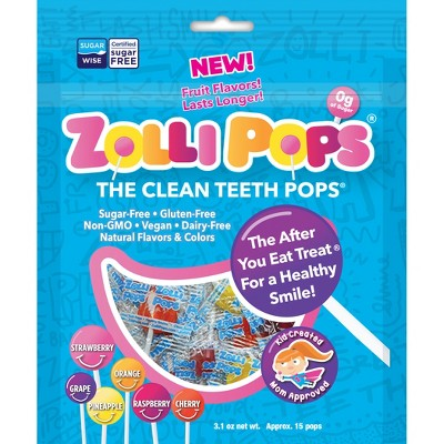 Zollipops Natural Clean Teeth Candy - 3.1oz