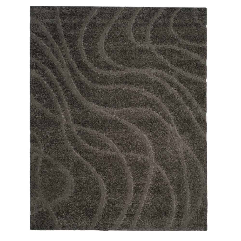 Gray Swirl Loomed Area Rug 8'6X12' - Safavieh