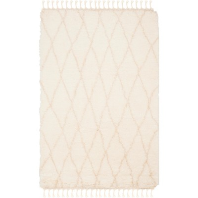 4 X6 Rectangle Hand Made Knotted Diamond Wool Area Rug Off White Safavieh Target