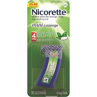 Nicorette 4mg Stop Smoking Aid Nicotine Mini Lozenge - Mint