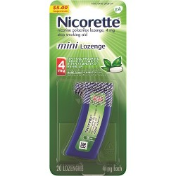 Nicorette 4mg Stop Smoking Aid Nicotine Mini Lozenge - Mint - 20ct