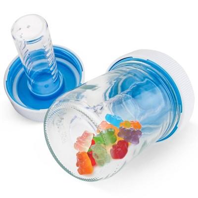 Masontops 2pk Jar Safe Child-Resistant Mason Jar Lids Regular White