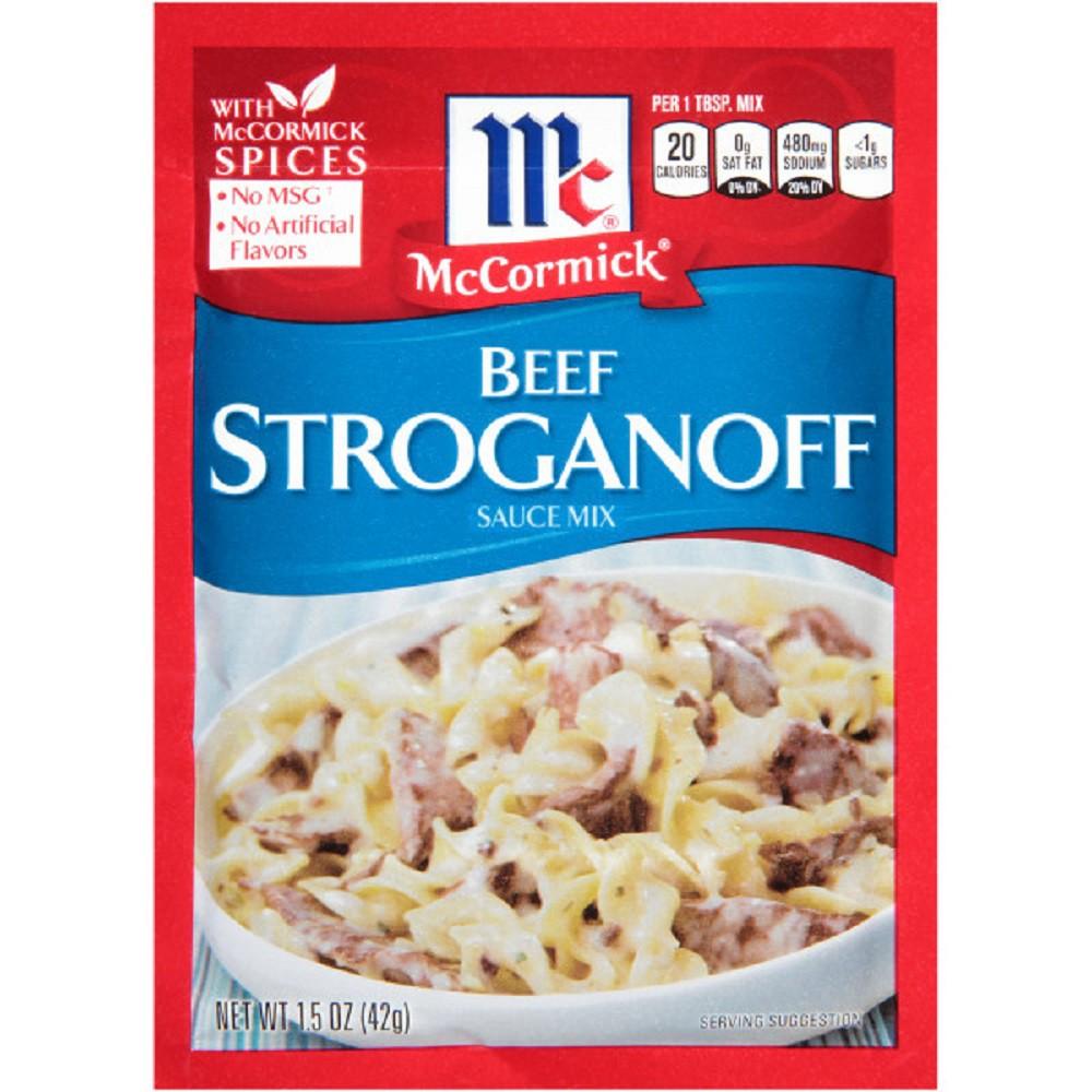 McCormick Beef Stroganoff Sauce Mix 1.5 oz