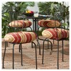 "4pk 18"" Roma Stripe Outdoor Bistro Chair Cushions - Kensington Garden - image 2 of 4"
