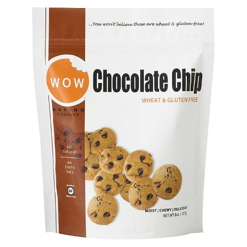 Wow Gluten Free Chocolate Chip Cookies - 8oz - WOW Baking Company - image 1 of 1