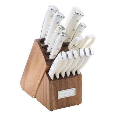 Cuisinart Classic 15pc White Triple Rivet Knife Block Set - C77WTR-15P2