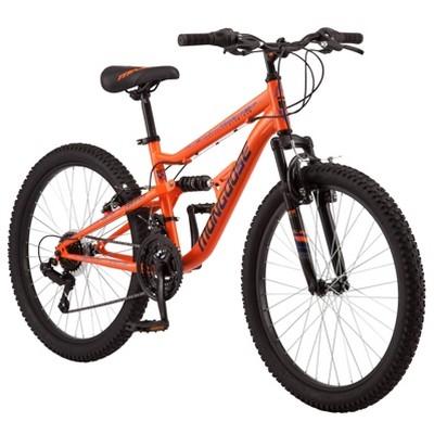 """Mongoose Standoff 24"""" Kids' Mountain Bike - Orange"""