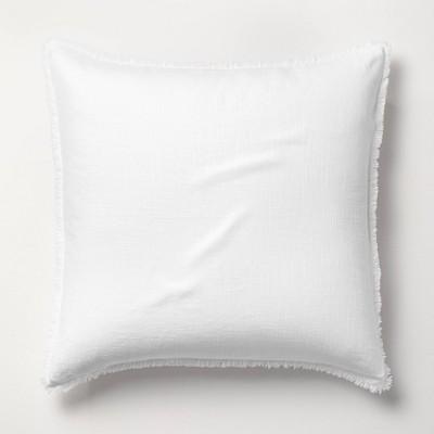 Euro Heavyweight Linen Blend Pillow Sham White - Casaluna™