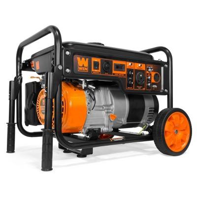 WEN GN6000 6000W RV-Ready Portable Generator with Wheel Kit