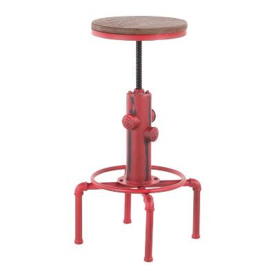 Hydra Industrial Adjustable Barstool - LumiSource
