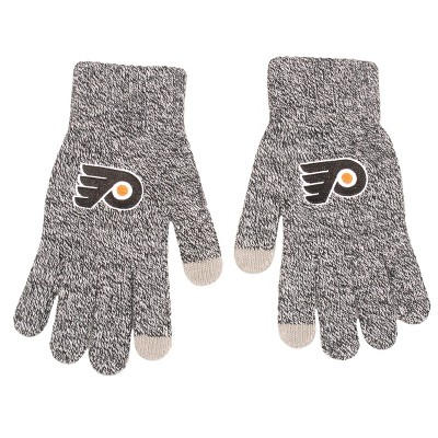 NHL Philadelphia Flyers Gray Knit Gloves