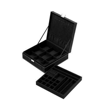 Juvale Two Layer Jewelry Box Organizer Display Storage Case with Lock  Key