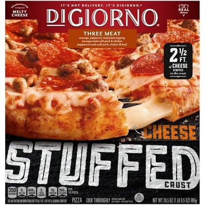 DiGiorno Cheese Stuffed Crust Three Meat Frozen Pizza - 24.5oz