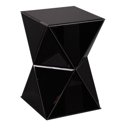 Jackson Mirrored Accent Table Black - Aiden Lane - image 1 of 4