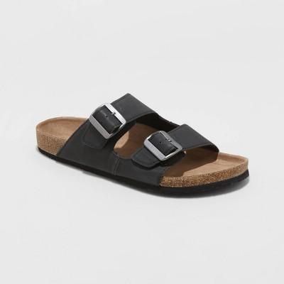 Men's Ashwin Double Buckle Footbed Sandals - Goodfellow & Co™ Black 12