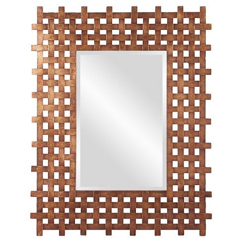 Rectangle Burma Decorative Wall Mirror Brown - Howard Elliott - image 1 of 2